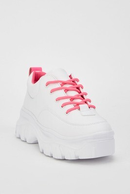 Contrasted Lace Low Top Chunky Trainers