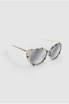 Grey Tipped Marble Cat Eye Sunglasses