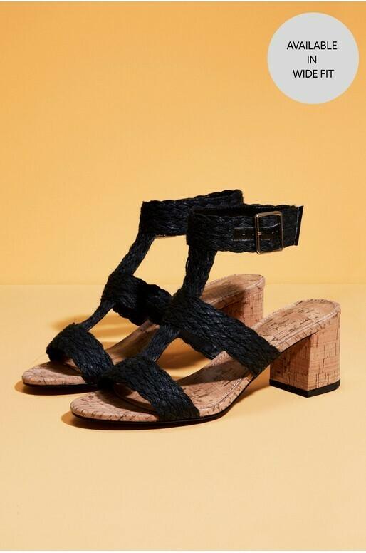 Black Raffia Sandals