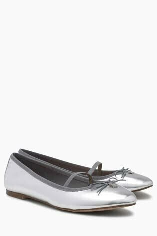 Silver charm ballet shoes