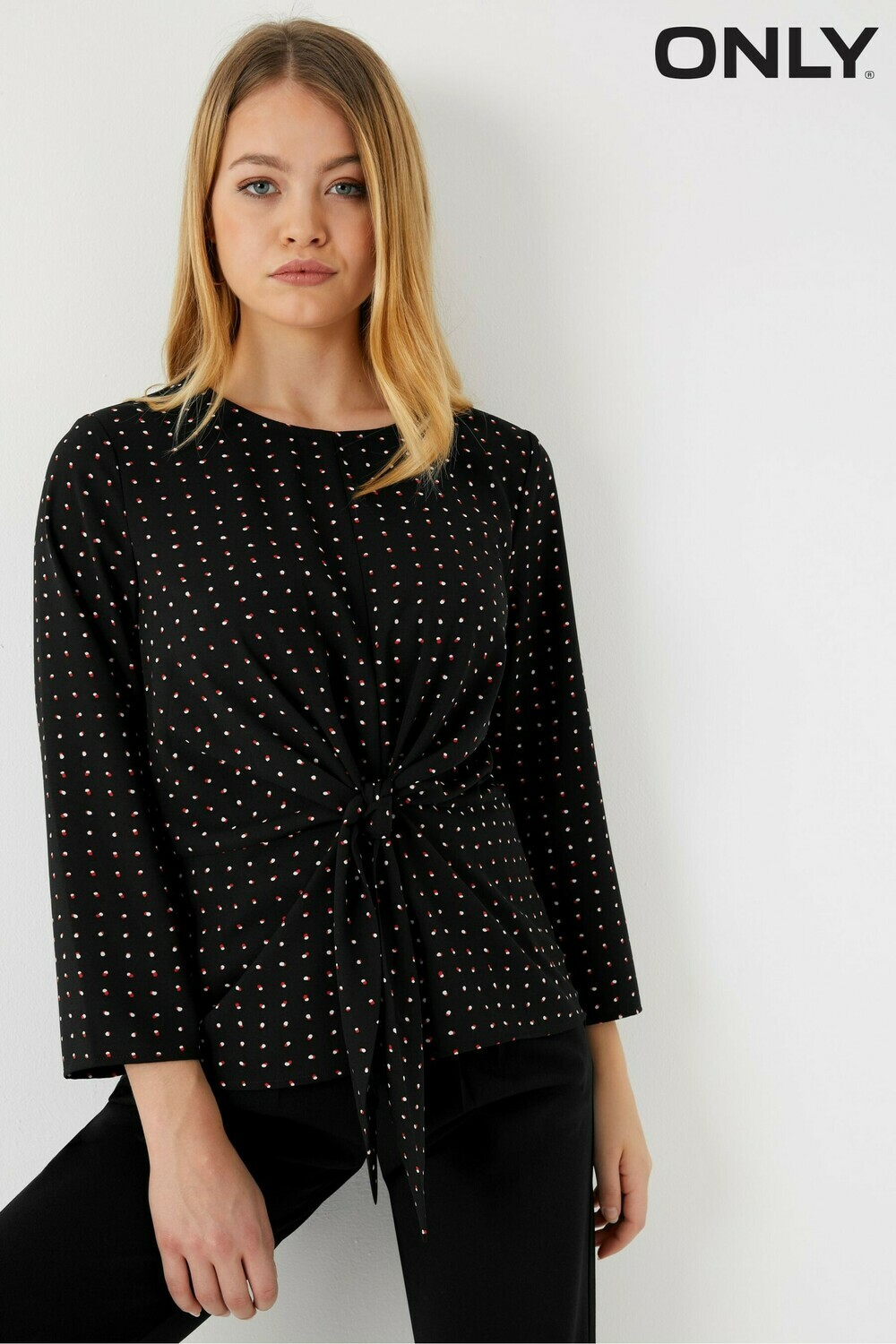 Black Only Michelle Bow Top