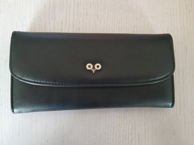 Black Foldover Purse
