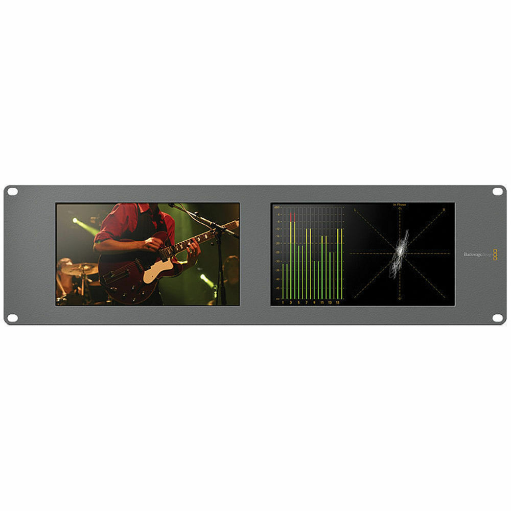 Blackmagic Design Smartscope Duo 4K UHD Rack Mounted Dual 6G-SDI Monitors HD SDI