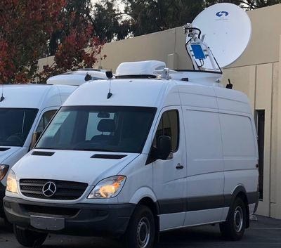 KU Band FULL HD DVB-S2 Uplink Video Production Satellite Truck 4K Ready Complete