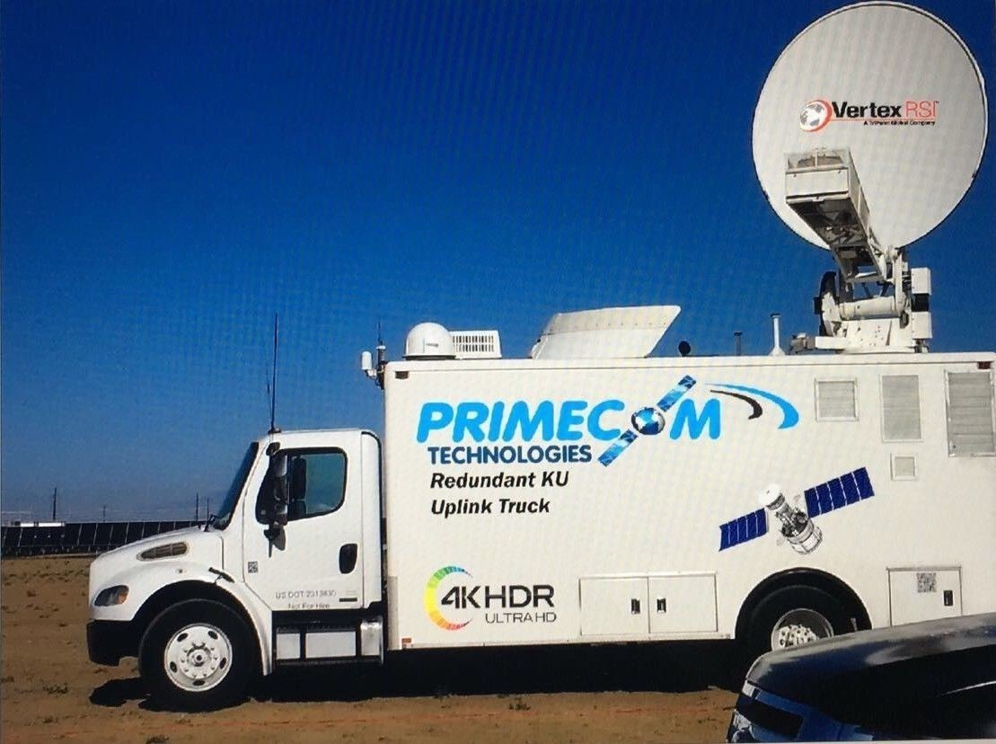 2005 Freightliner 4Path SATELLITE HD UPLINK TRUCK KU 2.4m 4 port Vertex Antenna