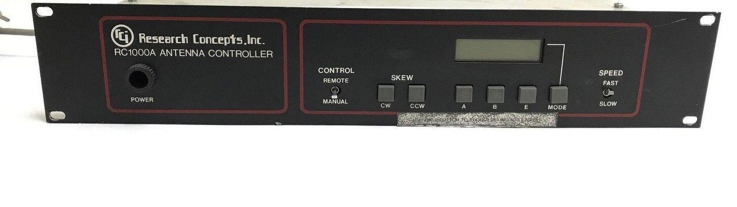 RESEARCH CONCEPTS RC1KA RC1000A SATELLITE ANTENNA CONTROLLER