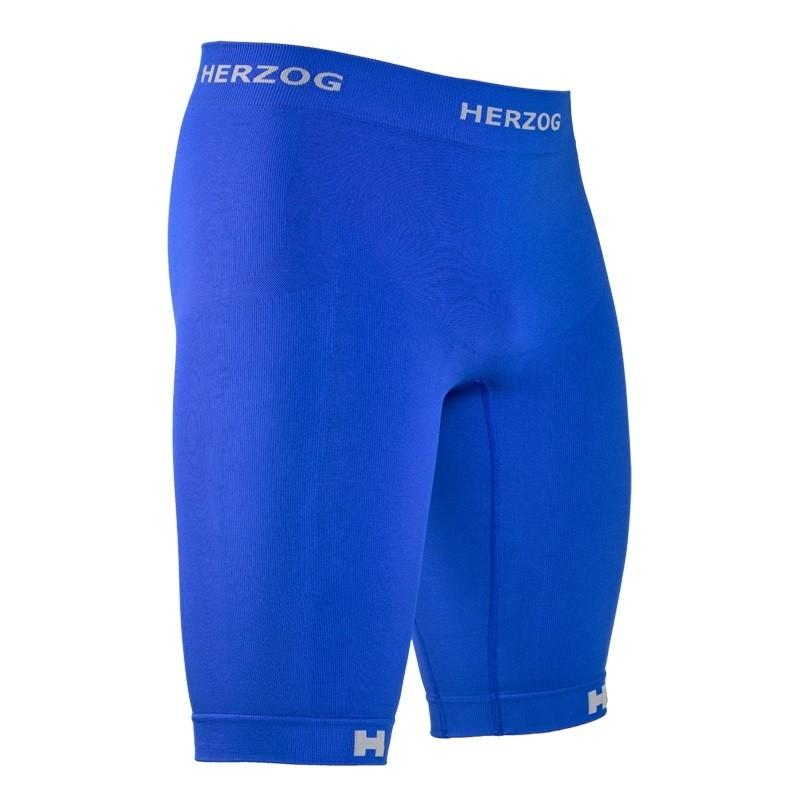 Herzog Pro Compressie short blauw