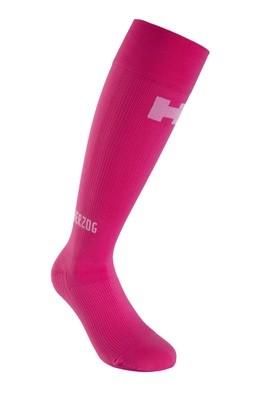 Herzog Pro roze compressiekousen