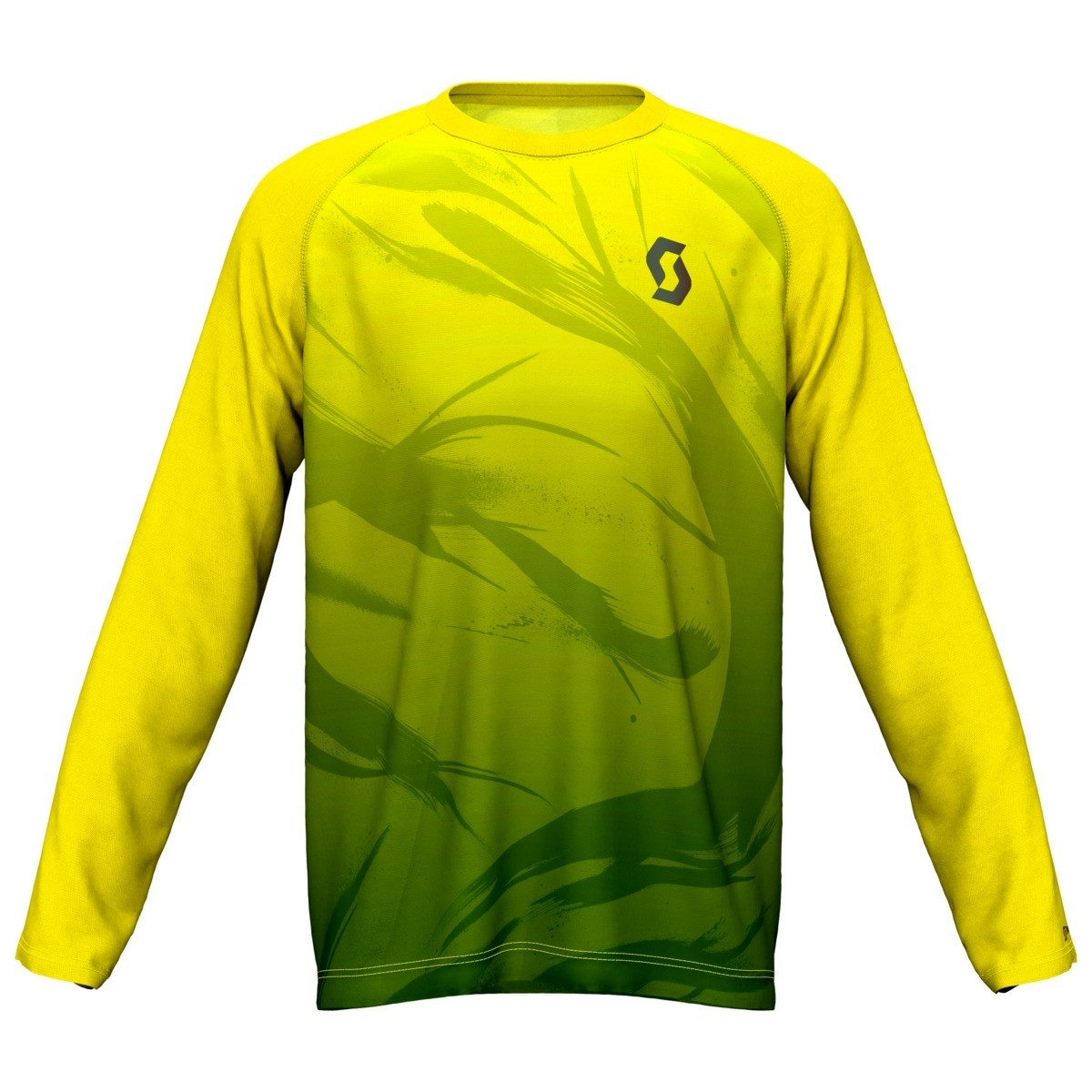 Scott t-shirt l/s Kinabalu heren yellow/green