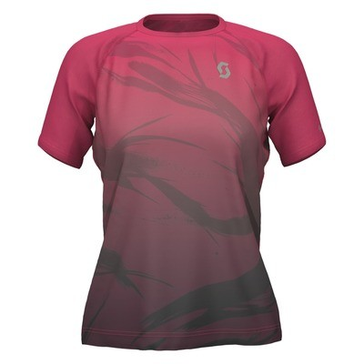 Scott t-shirt Kinabalu dames pink/black