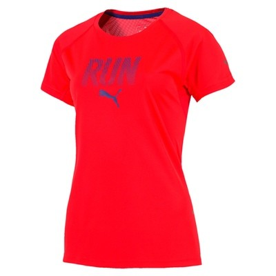 Puma Run s/s t-shirt dames rood