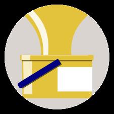 NFC Sticker PVC - BeeInTouch Aufdruck:Honigernte