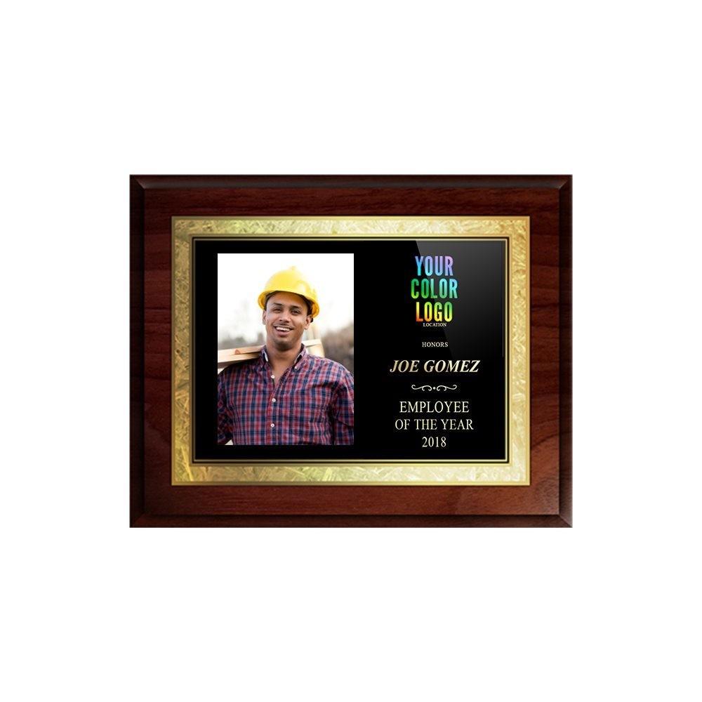 "8""x10"" Solid Walnut Award with Printed Photo"