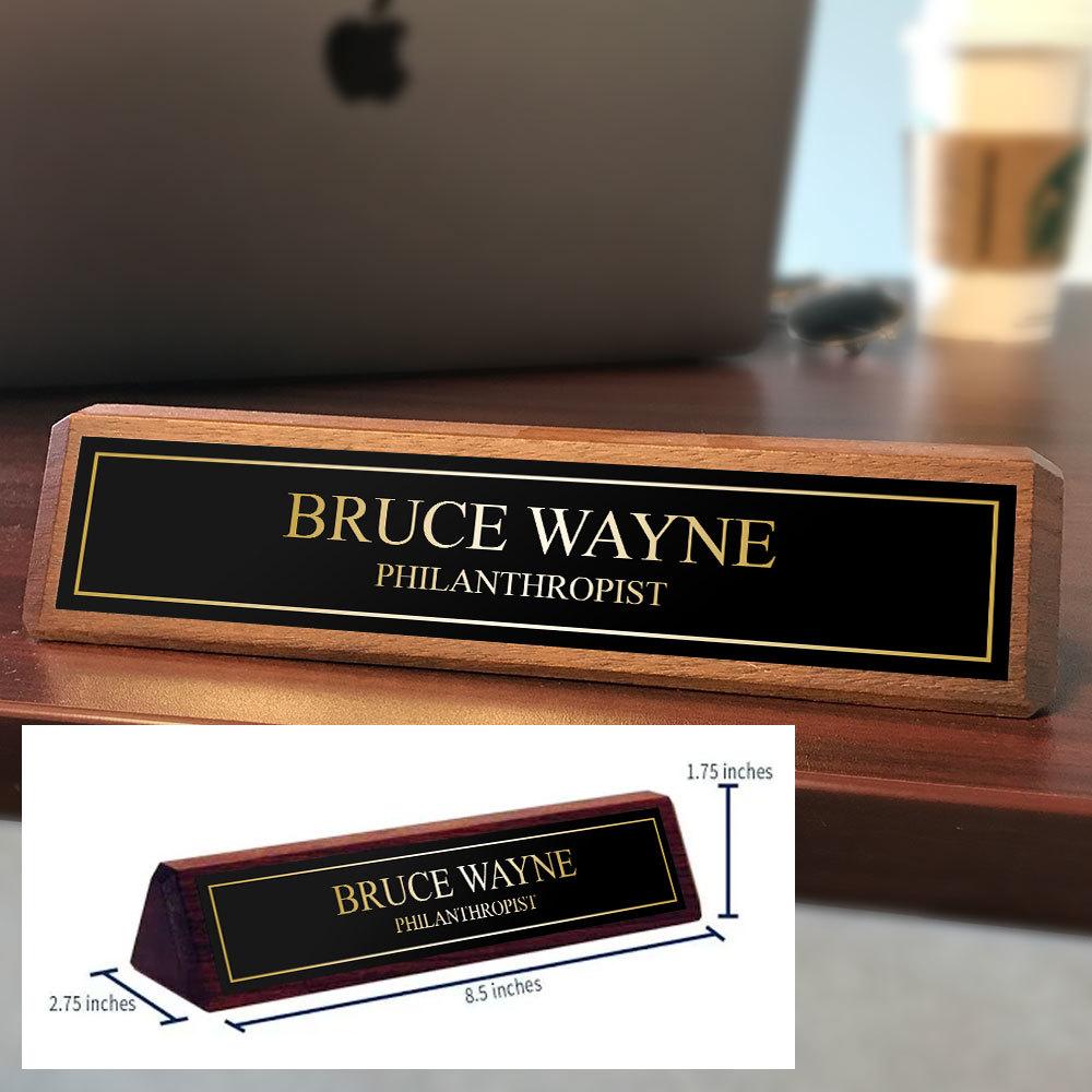 Solid Walnut Custom Desk Plate deskplate