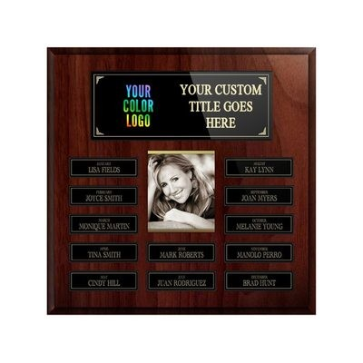 12-plate Custom Perpetual Wall Plaque With Photo