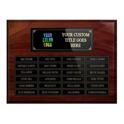 24-plate Custom Perpetual Wall Plaque