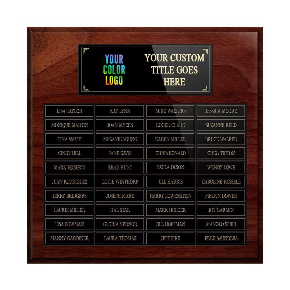 40-plate Custom Perpetual Wall Plaque 40plateperpetual