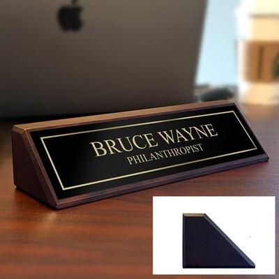 Solid Walnut Custom Desk Plate