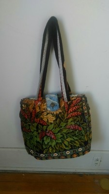 Carpet bag Floral and Mountain hinged lined
