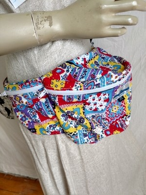 Bright print Fanny Pack MCM Hermans Made in USA 70s Fabric