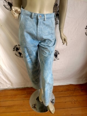 Womens Organic Cotton Natural indigo Dyed Jeans 30 X 28 Made in USA Hermans Eco