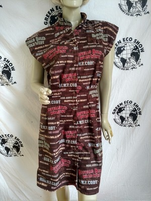 Womens Dress Anna Herman Rough rider Oakley Cody Western button up Med USA