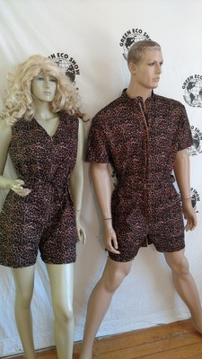 Matching His and Hers Rompers Leopard Tarzan Jane Mand  L