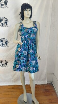 Womens Sun Dress Endangered Species M Elephants  Rhinos w 30