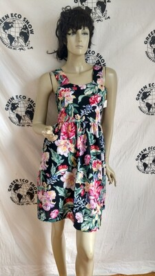 Womens Sun Dress Lg Flowers S  w 27