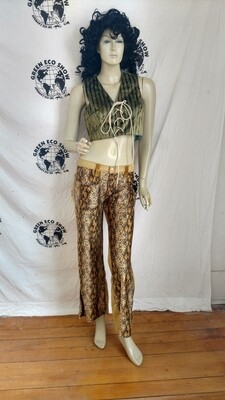 Snake pants. Made in USA with cotton Small hip huggers  32 by 29 Hermans