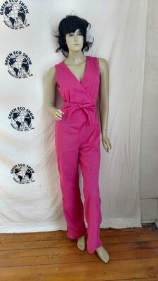 Womens Wrap around Jumpsuit M Pink USA