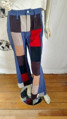 Womens Patchwork Pants Hermans Made in USA M