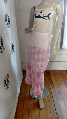 Patchwork skirt  Pink 28 Waist Made in USA