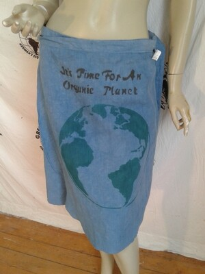 Hermans Hemp wrap skirt M to L  Endangered Species Airbrush