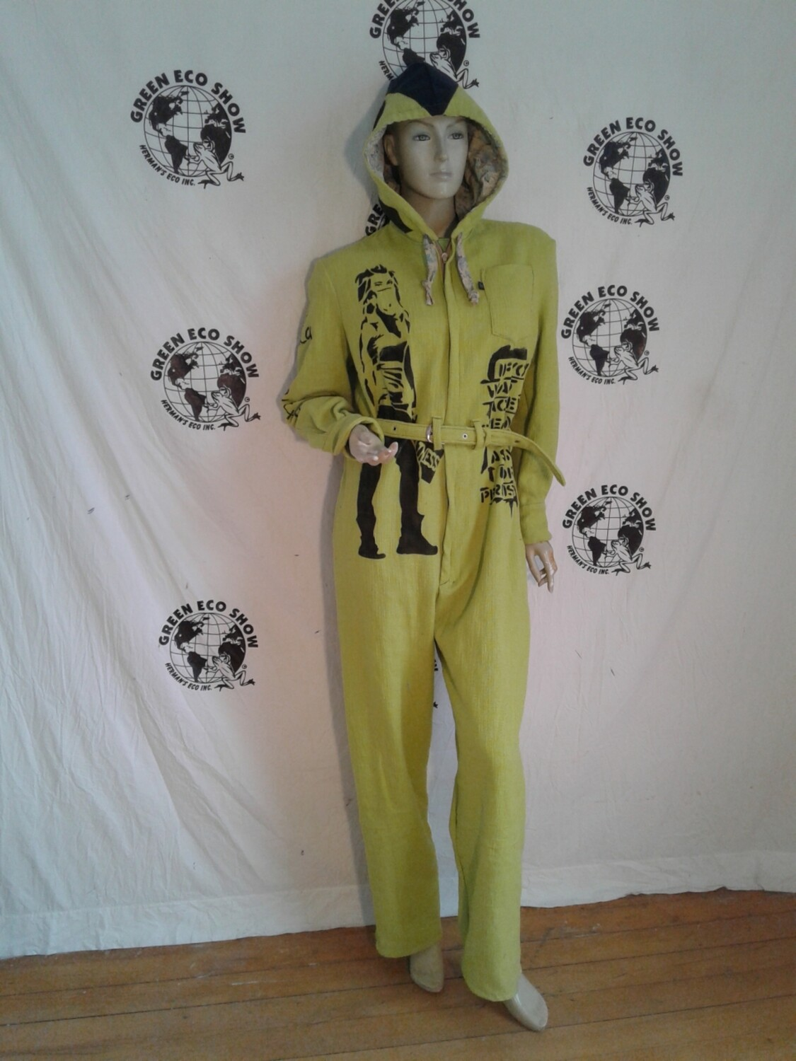 Womens jumpsuit hoody airbrushed Grafitti M USA