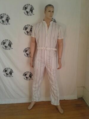Mens jumpsuit M striped Hermans Eco