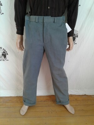 Mens organic cotton gray pants 38X 32 grown in Usa hand dyed Hermans Eco