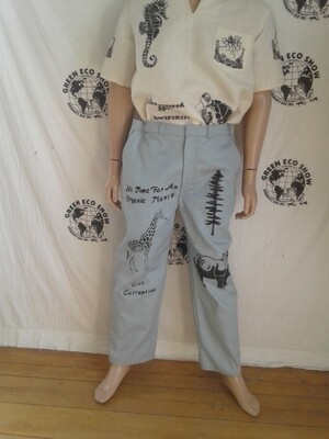 Mens pants grafitti 38 X 30 endangered species