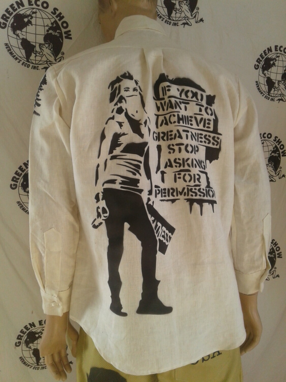 Hermans Hemp Grafitti shirt long sleeve