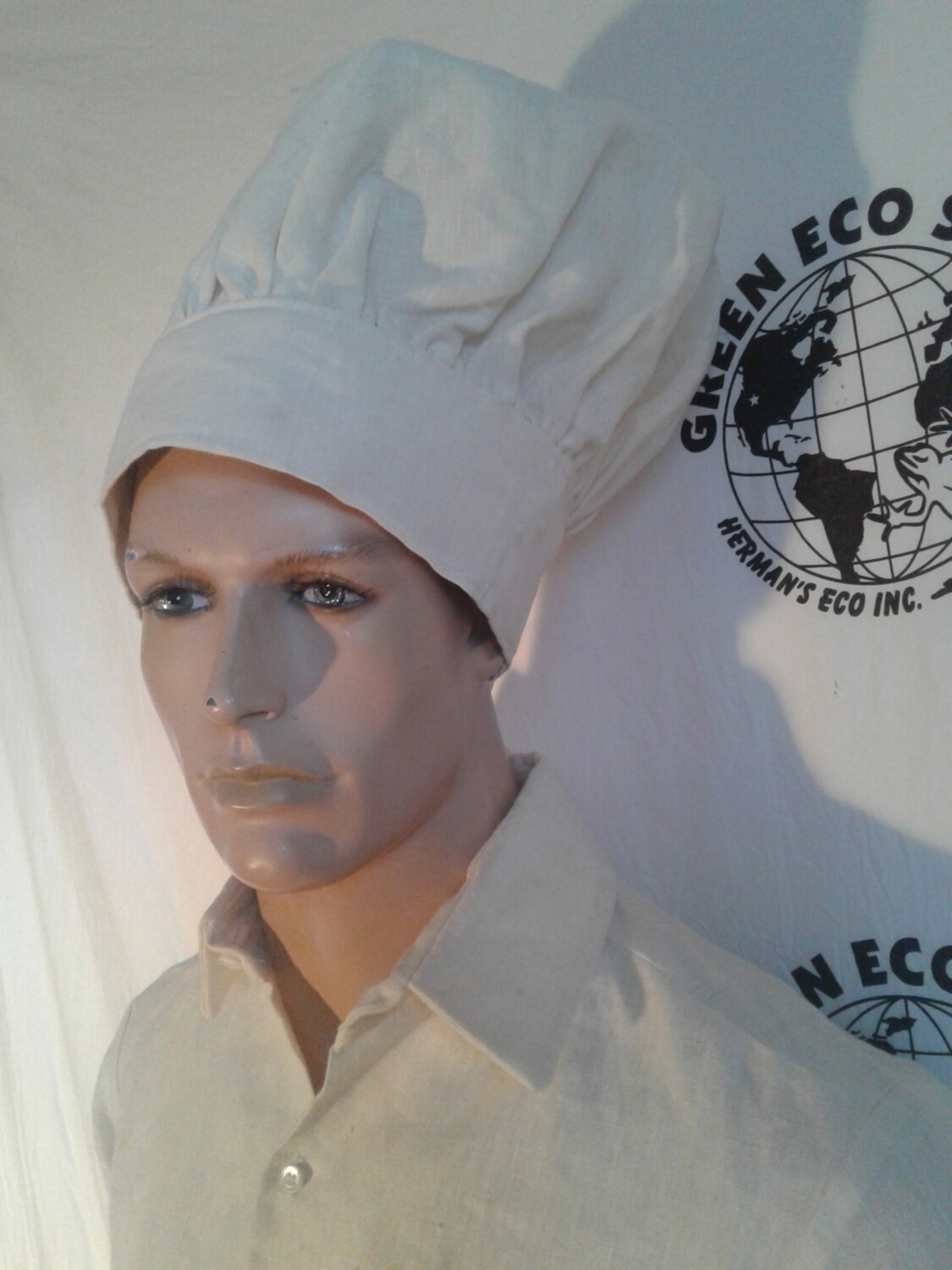 Hermans Hemp Chef Hat L made in USA