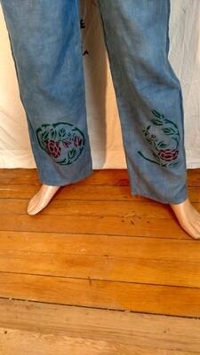 Hermans Hemp M drawstring pants with graphics M