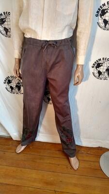 Hermans Organic Cotton drawstring pants  M brown
