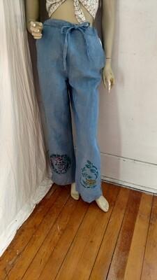 Hermans Hemp drawstring airbrushed pants S