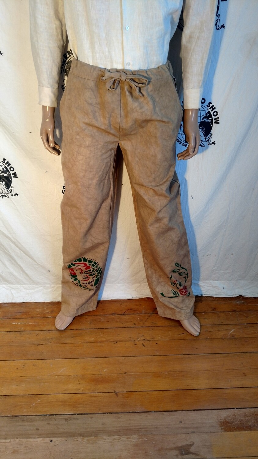 Hermans Eco Organic cotton drawstring pants L made in USA