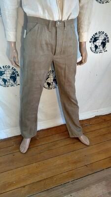 Hermans Hemp tan jeans 34 X 32 hemp canvas made in USA