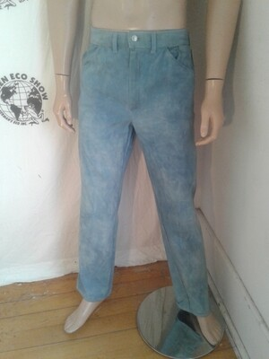 Organic cotton natural indigo jeans  34 X 32 grown in USA