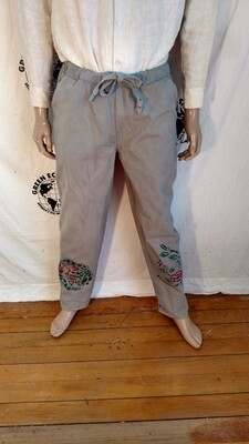 Hermans Eco organic cotton pants L airbrushed