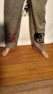 Hermans Eco organic Cotton drawstring pants M