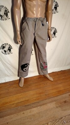 Drawstring pants organic cotton M  airbrushed