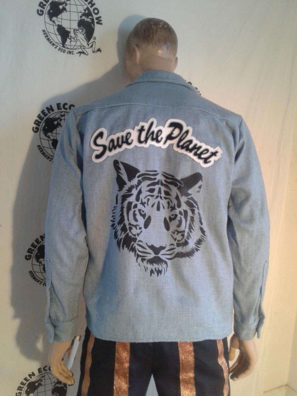 Endangered Species Tiger Rhino Shirt L